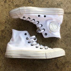 converse all star high top ALL WHITE